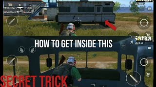 HOW TO GET INSIDE THE NON MOVABLE VAN|WALL GLITCH|PUBG MOBILE