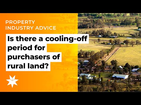 Is there a cooling-off period for purchasers of rural land?