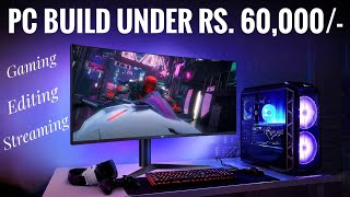 Hello friends, this is the best and modern pc build in india under 60000 rupees for gaming / streaming editing 2020. amd ryzen 7 2700 nvidia...