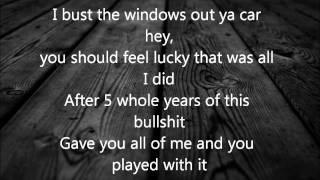 Bust your windows - GLEE- lyrics