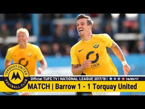 Official TUFC TV | Barrow 1 - 1 Torquay United 16/09/17