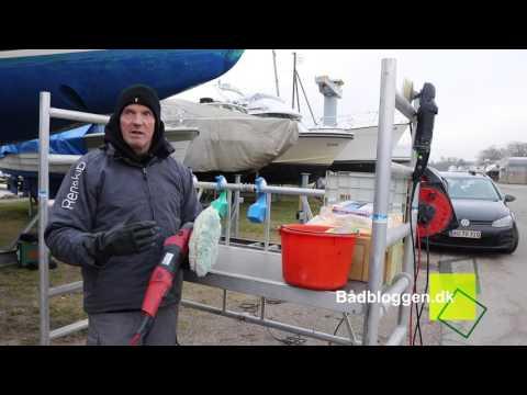 Bådvedligeholdelse Afsnit 4 - Polering af fribord, rensning af Teakdæk mm.