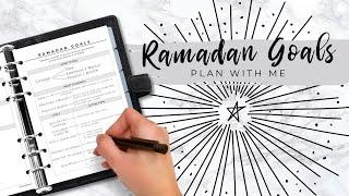 Ramadan Goals - Ramadan Planner - Plan With Me