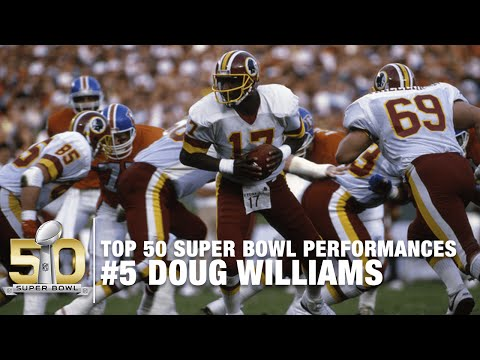 #5: Doug Williams Super Bowl XXII Highlights | Redskins vs. Broncos | Top 50 SB Performances