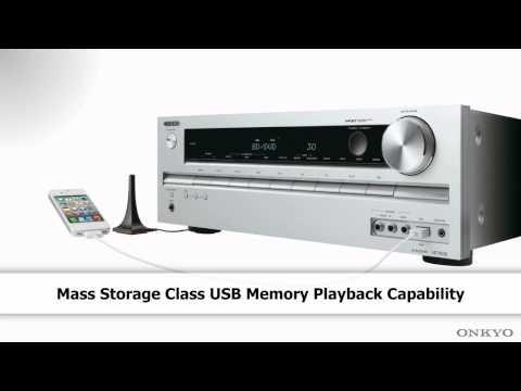 ONKYO HT-S4505 Preview (3D ARC iPod iPhone USB Audyssey AVR AV Receiver, iPhone5 ready via USB)