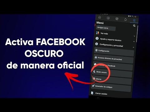 🌘Por fin puedes activar el modo oscuro en Facebook de manera oficial android y ios🌙