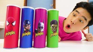 프링글스 먹으면 슈퍼히어로 댄스 춤 춘다고? Making Pringles with Superheros dance