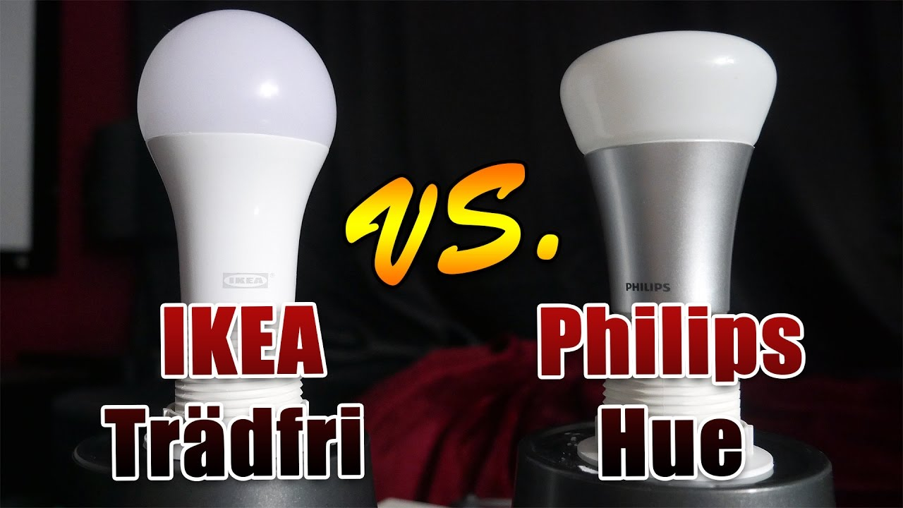 ikea tr dfri vs philips hue lampentest deutsch 4k youtube. Black Bedroom Furniture Sets. Home Design Ideas