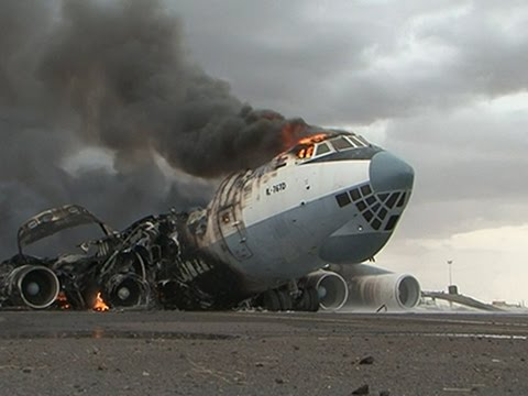 Airstrikes Burn Planes at Yemen Airport