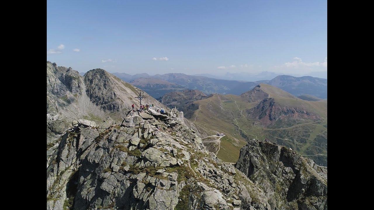 Klettersteig Ifinger : Klettersequenz einstiegswandl beim klettersteig ifinger youtube