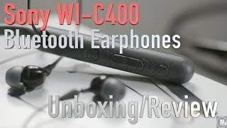 Sony WI-C400 Bluetooth Earphones Unboxing/Review
