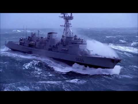 Military Ship In Extreme Storm