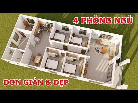 Gợi ý bố trí nhà cấp 4 nông thôn 4 phòng ngủ đơn giản đẹp | Kiến Trúc Nhà Việt