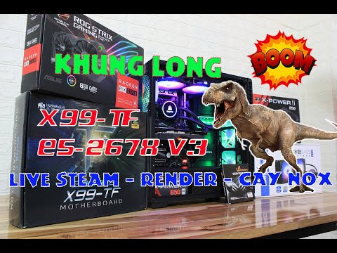 PC SEVER X99-TF E5-2678 V3 [12 Core 24 Thread] Max setting Call of duty