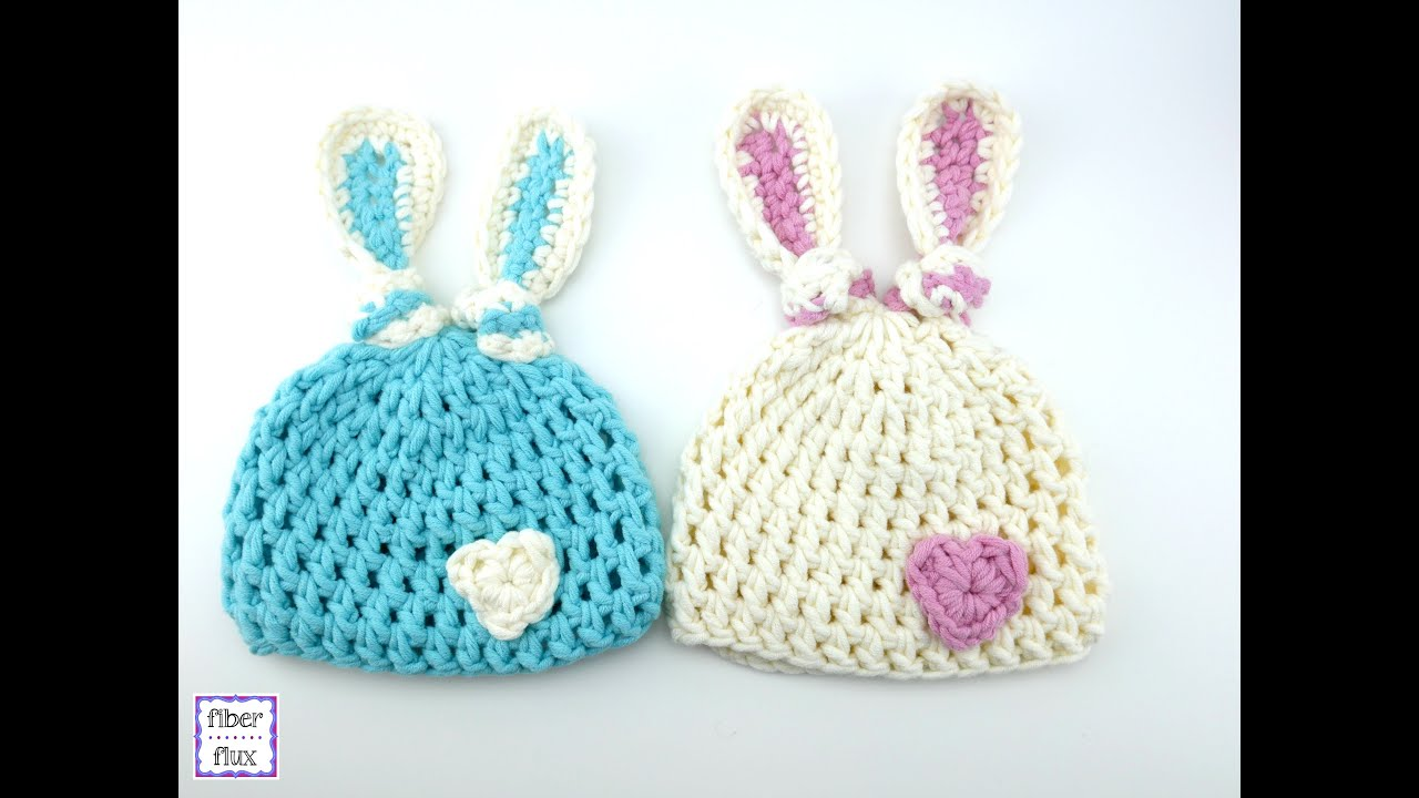 ab6b929ea96 How To Crochet the Newborn Bunny Knot Hat