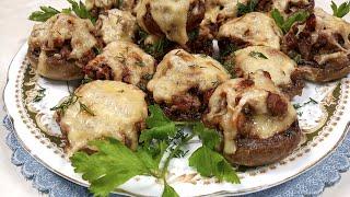 Рецепт фаршированных шампиньонов Потрясающая грибная закуска