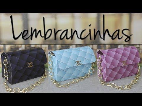 3694b81f8 DIY LEMBRANCINHAS BOLSA CHANEL - YouTube