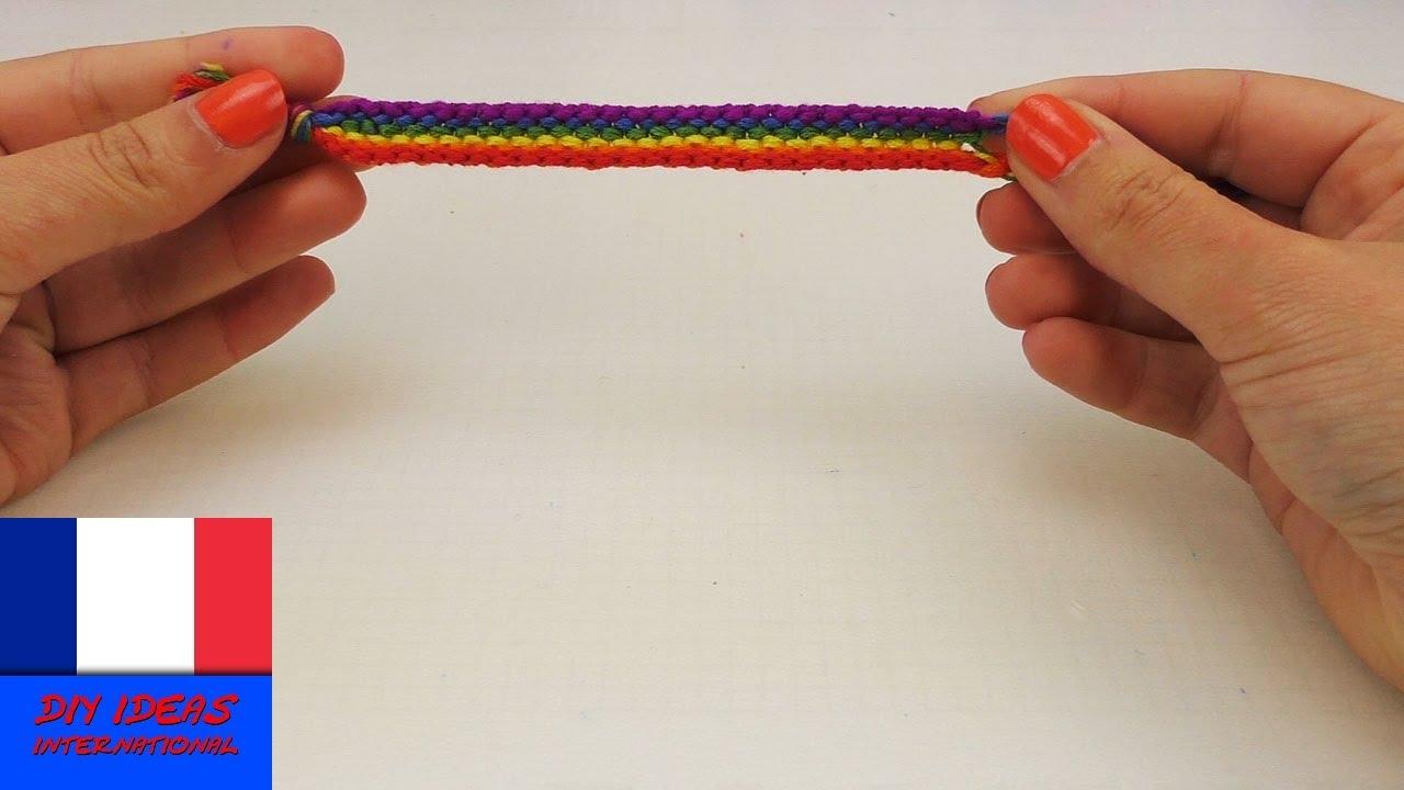 Souvent Bracelet en fils noués / noeuds multicolores / Bracelet DIY d  LC04