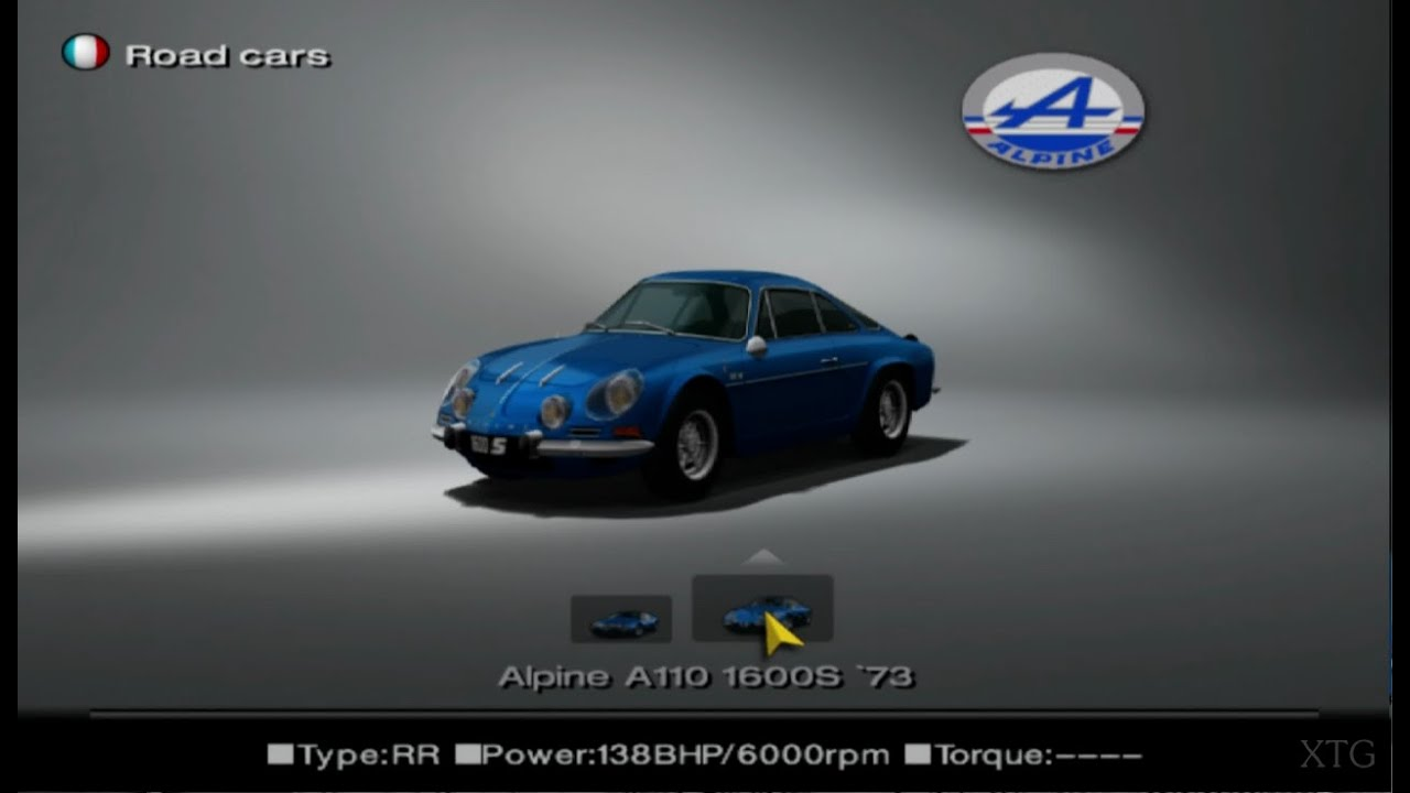 gran turismo 4 alpine car list hd ps2 gameplay youtube. Black Bedroom Furniture Sets. Home Design Ideas