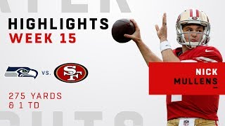 Nick Mullens Leads Overtime Victory vs. Seahawks