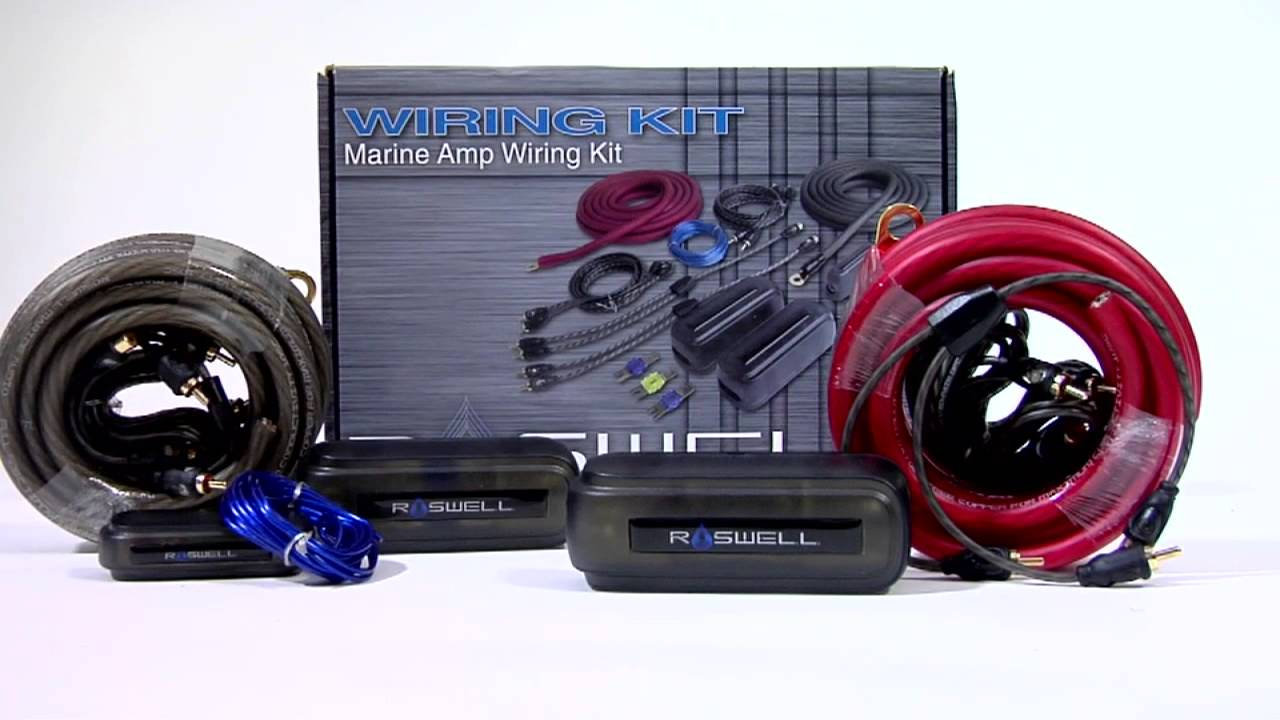 roswell marine audio wiring diagrams roswell marine audio (rma) - marine amp wiring kit ...