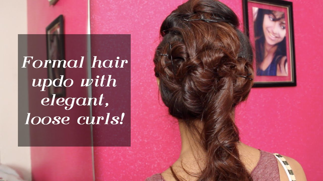 Formal Hair Updo With Elegant Loose Curls | Indian Wedding Special ...