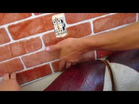 Начали ремонт на кухне/ Монтаж листовых панелей ПВХ/ Имитация кирпичной кладки