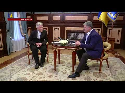 David Lynch Meets With President Poroshenko