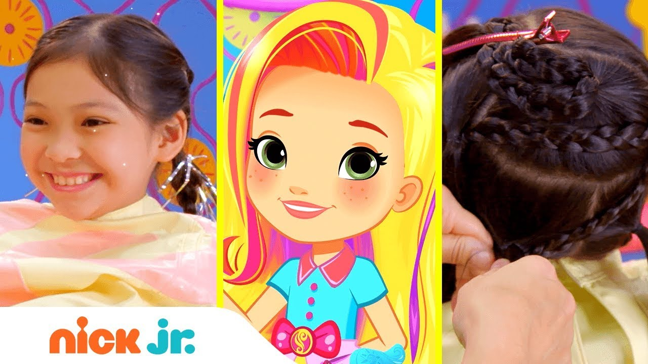 how to make a star braid style files hair tutorial sunny day nick jr youtube. Black Bedroom Furniture Sets. Home Design Ideas