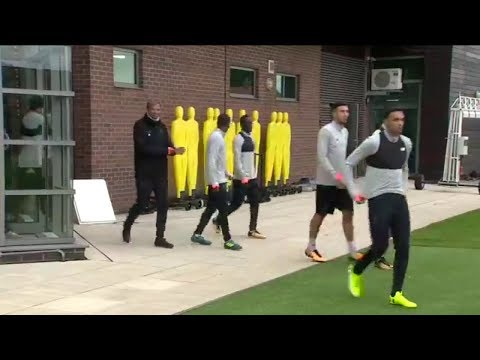 Liverpool Squad Training Session Before Champions League Match With Sevilla