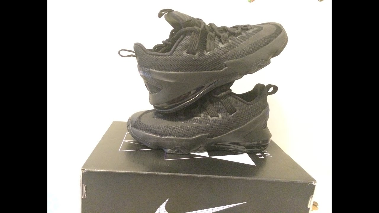 3d5eb5e0adc8 ... sweden lebron 13 low triple black unboxing review youtube 5384c 426ee  shop nike ...