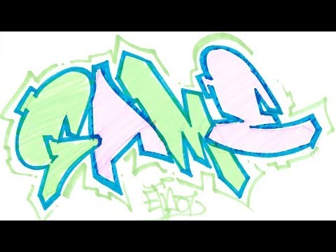 how to draw graffiti letters step by step for beginners