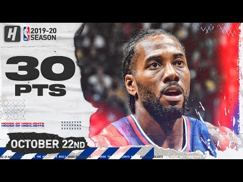 Kawhi Leonard DESTROYS LeBron & Lakers Full Highlights (2019.10.22) - 30 Pts, 6 Reb, 5 Ast!