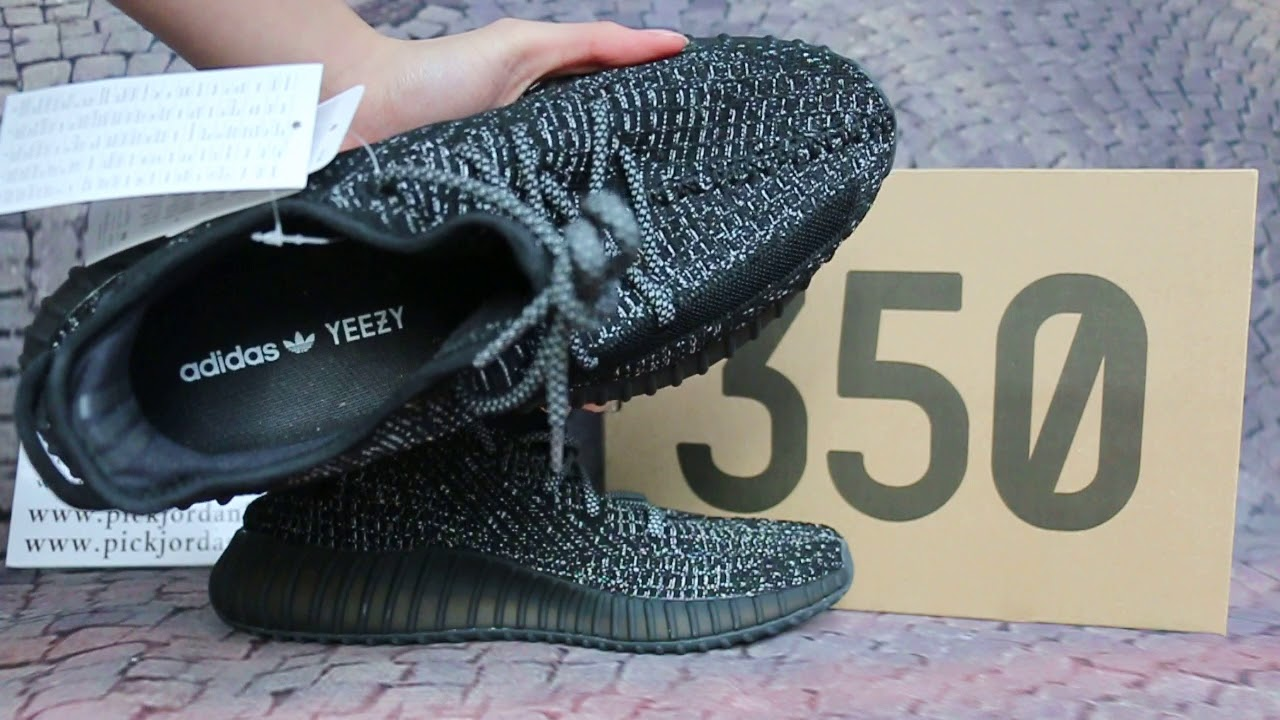 ff5216aa1a9 Authentic Yeezy Boost 350 V2 Static Black full-reflective - YouTube