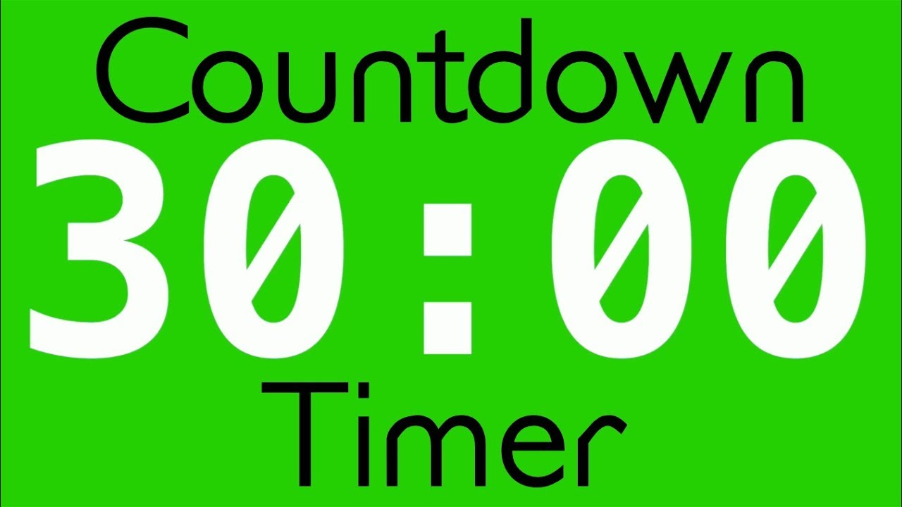 free green screen effect 30 minutes countdown timer. Black Bedroom Furniture Sets. Home Design Ideas