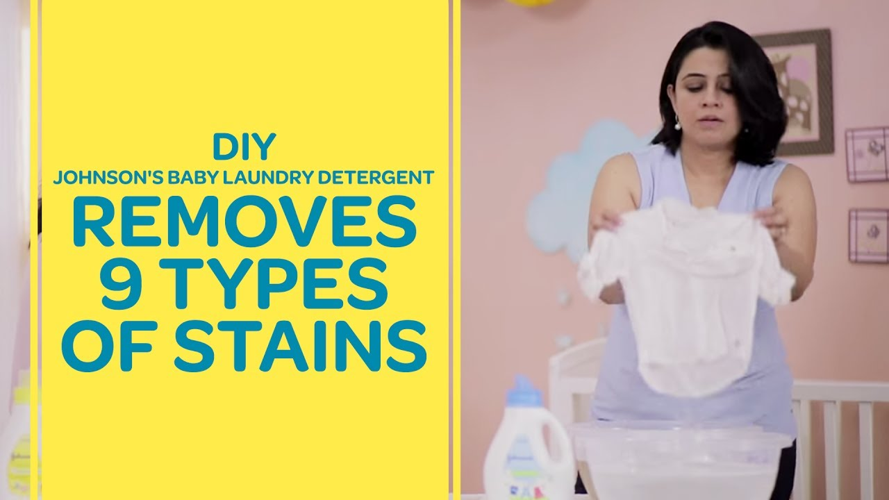 DIY - Johnson's Baby Laundry Detergent Removes 9 Types Of Stains | Best For Baby