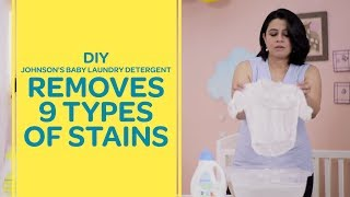 Johnson's Baby Laundry Detergent Removes 9 Types Of Stains - DIY Test