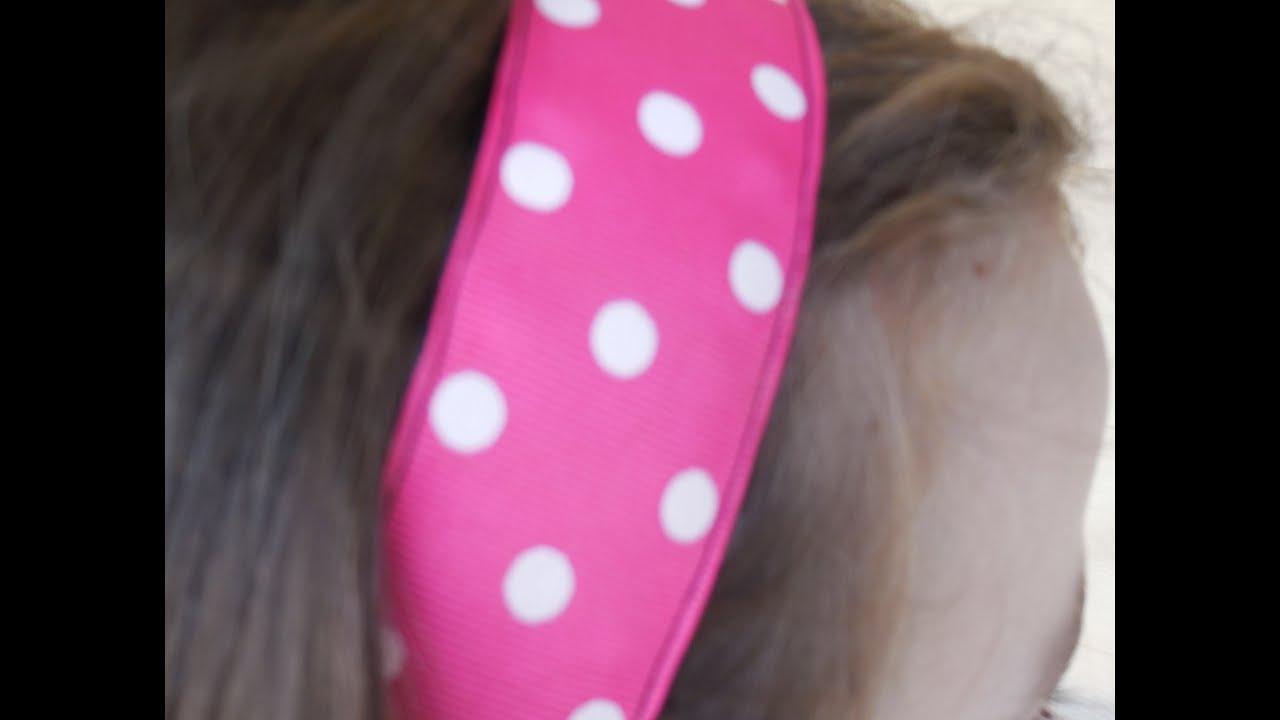 Vincha diadema banda para el cabello para ni as youtube for Diademas de tela para el cabello