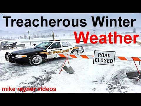treacherous winter weather, cars planes trains sliding on icy roads, stuck in snow storm + timelapse