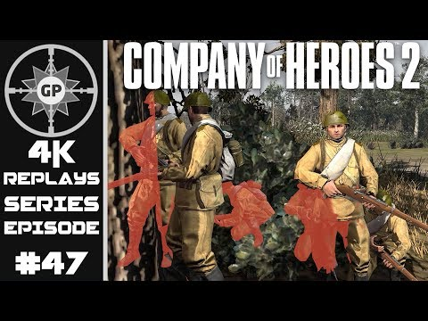 Company of Heroes 2 4K Replays #47 - Infantry Swarms vs. Arm