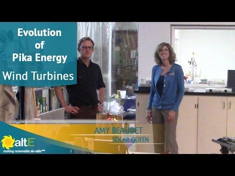 Evolution of the Pika Energy Wind Turbines