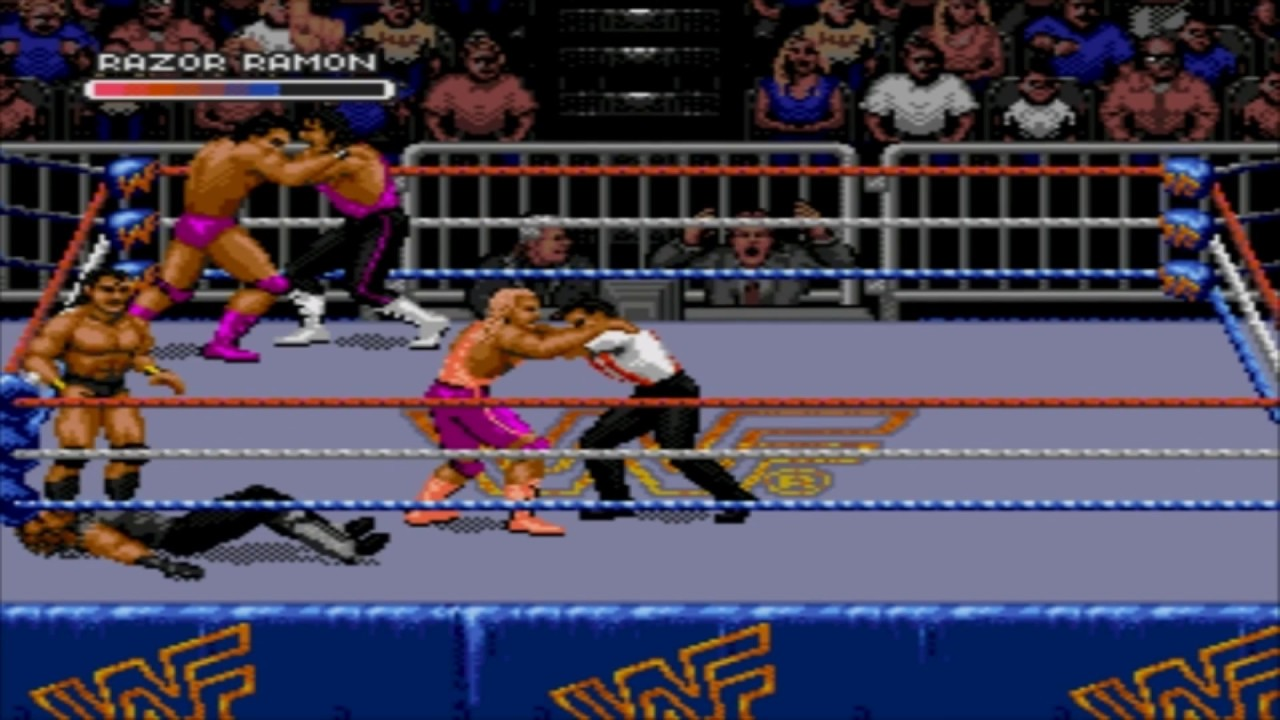 Sega Megadrive Genesis Wwf Royal Rumble Game Youtube