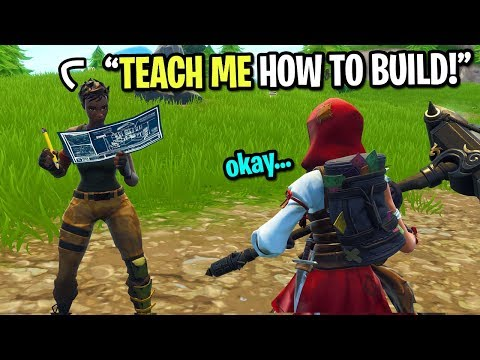 I pretended to be a default skin on Fortnite... (Kid teaches me how to build)