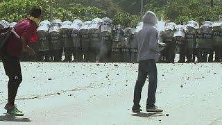 Protesters clash with police in Venezuela
