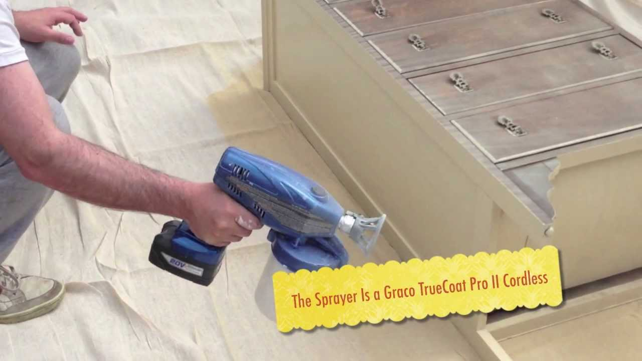 furniture paint sprayerGraco Spraying Annie Sloan Chalk Paint  YouTube