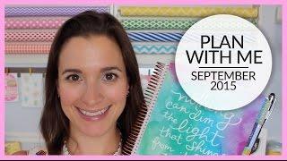 Plan With Me | Erin Condren Life Planner | September 2015