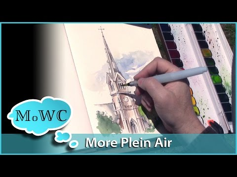 Painting an Historic Church in Watercolor Plein Air