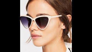 Солнцезащитные очки кошачьи глаза для взрослых женские ретро винтажные очки мужские модные