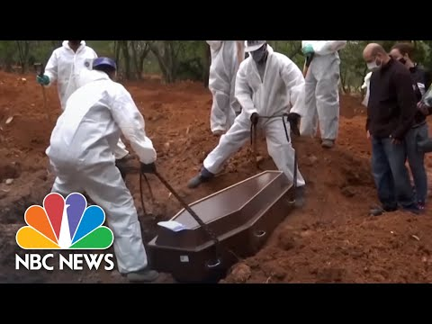 Brazil Passes 75,000 Coronavirus Deaths As Bolsonaro Stands By Hydroxychloroquine | NBC News NOW