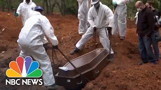 Brazil Passes 75,000 Coronavirus Deaths As Bolsonaro Stands By Hydroxychloroquine   NBC News NOW